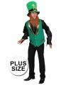 Grote maten Saint Patricks Day gnoom jasje voor heren