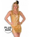 Plus size gouden jurkjes