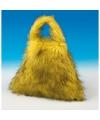 Fake fur tas geel