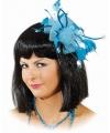 Haar accessoire blauwe bloem