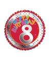 8 jaar helium ballon Happy Birthday