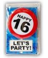 Happy Birthday leeftijd kaart 16 jaar