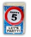 Happy Birthday leeftijd kaart 5 jaar