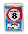 Happy Birthday leeftijd kaart 8 jaar