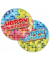 Happy Birthday bordjes 6 stuks