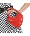 Rood tasje in de vorm van hart