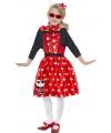 Hello Kitty Fifties jurkje rood