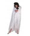 Spook verkleedkleding cape wit