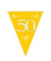 Plastic vlaggenlijn 50 jaar jubileum