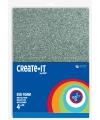 Schuimrubber diverse kleuren met glitters 4 st