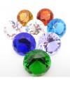 Piraten schat diamant licht blauw 4 cm