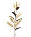 Kerst decoratie magnolia tak goud 86 cm