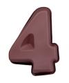 Siliconen bakvorm cijfer 4