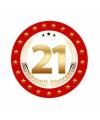 Bierviltjes 21 jaar verjaardag