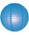 Lampion 25 cm blauw