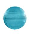 Lampion 25 cm mist blauw