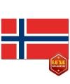 Landen vlaggen Noorwegen