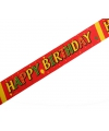 Feest tape Happy Birthday 6 meter
