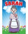 Deurposter Sarah