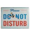 Metalen plaat Do Not Disturb