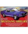 Metalen plaat Mustang Shelby