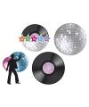 Disco feest versiering set 4x