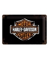 Mooie metalen wanddecoratie Harley motoren