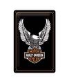 Metalen plaatje van de aren van Harley Davidson
