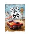 Tinnen wandplaat Route 66 Amerikaans