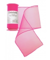 Organza tule strook neon roze 12 x 300 cm
