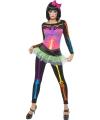Neon skeletten kostuum voor dames