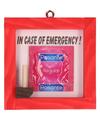 Noodgeval condoom in schilderij