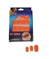 Oranje neon nepnagels setje 24
