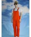 Oranje tuinbroek overall voor volwassenen