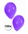 Versierings ballonnen paars, 100 st