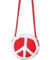 Jaren 60 hippie tas rood