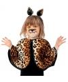 Peuter luipaard verkleed ponchos