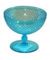 Plastic ijs glas blauw