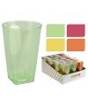 Plastic longdrink glazen 8,5 cm