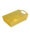 Plastic schaal geel 26 cm
