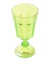 Plastic wijnglas groen 15 cm
