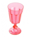 Plastic wijnglas rood 15 cm