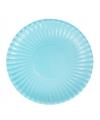 Feestartikelen borden lichtblauw 10 stuks