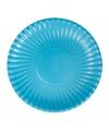 Feestartikelen borden turquoise 10 stuks