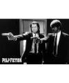 Poster Pulp Fiction film zwart/wit guns