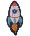 Raket wandklok 36 cm