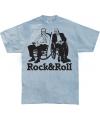 Blauw Rock & Roll t-shirt