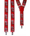 Verstelbare bretels rood edelweis