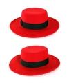 Rode Spaanse hoed met band