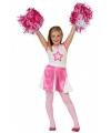 Cheerleader jurkjes roze met wit